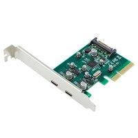 10 Gbps כרטיסי הרחבה PCI-E להביע 4X לכבל מסוג C הארכת כרטיס מתאם עם כוח מסוג SATA עבור מחשב שולחני באיכות גבוהה
