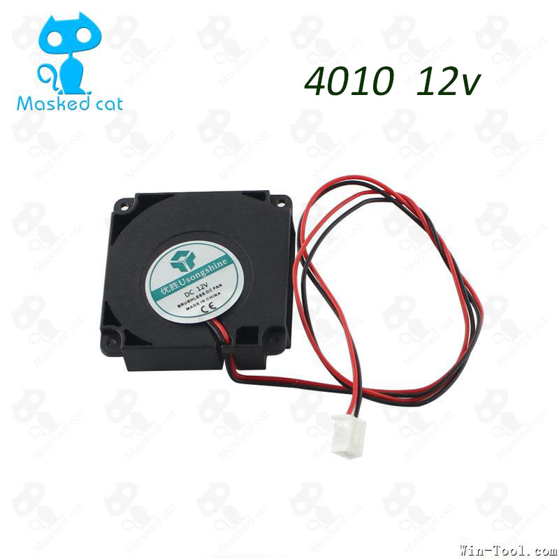 1pcs 3D Printer Kit 12V/24V 40*10mm 4010 Hydraulic Bearing Blow Radial extruder Cooling Fan Turbo Fan with XH2.54-2P Wire free delivery original afb1212she 12v 1 60a 12cm 12038 3 wire cooling fan r00