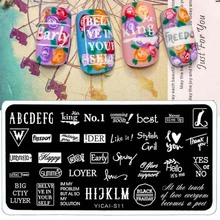 Nail Stamping Plate Beauty Girls And Animals  Pattern Transfer Templates Rectangle Manicure Stamp Template Art Image