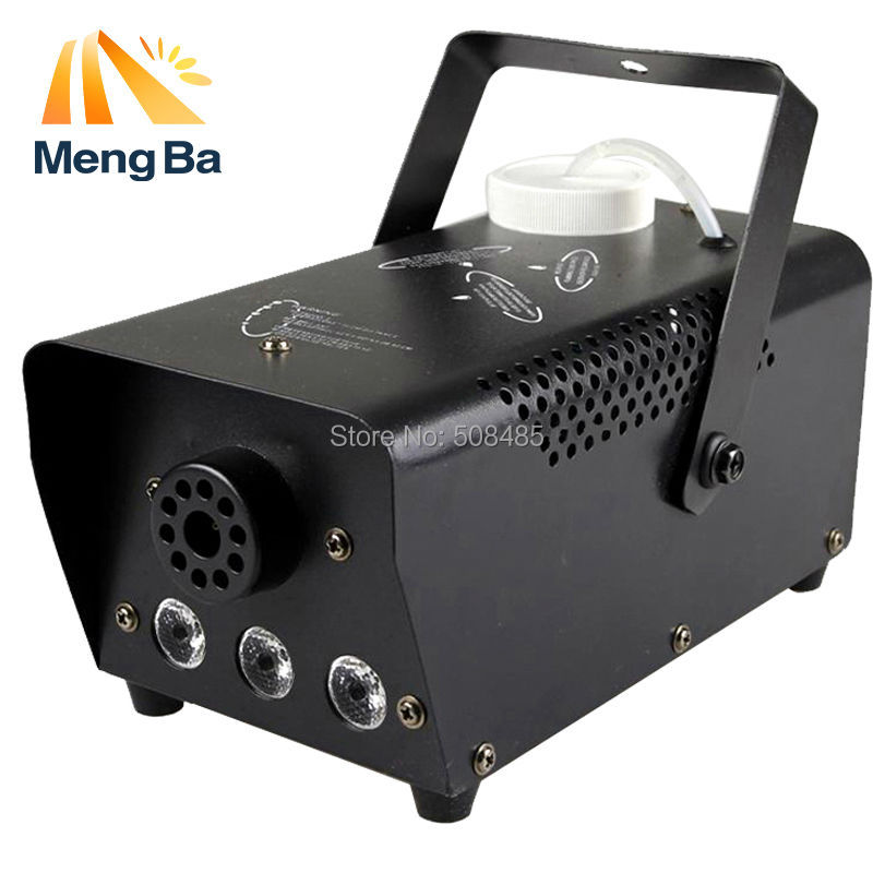 Mini 400W RGB Wireless remote control fog machine pump dj disco smoke machine for party wedding
