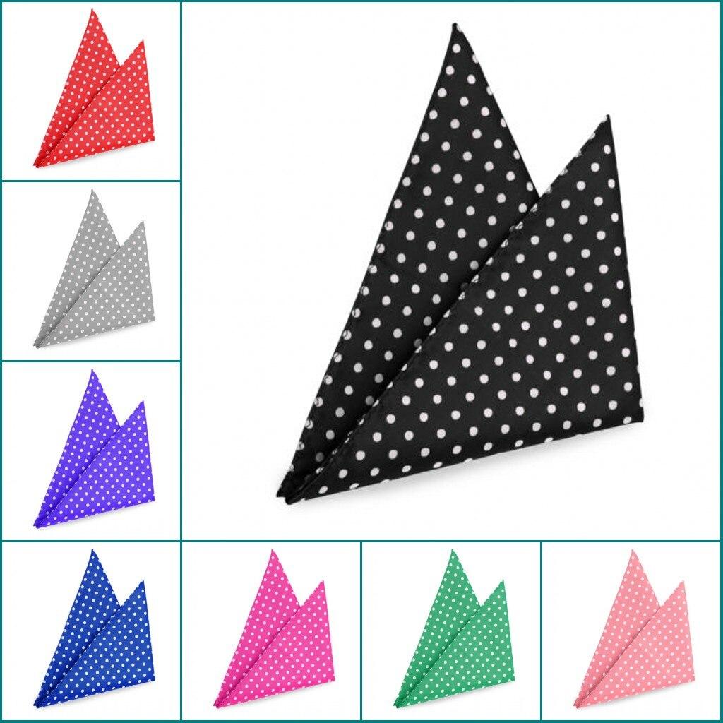 Ikepeibao Hanky Solid Polka Dots Men's Fashion Pocket Square Handkerchief Wedding Party Handkerchief Accessories