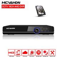 AHD DVR 16ch 1080P home surveillance 16 channel AHD H security CCTV DVR video recorder HDMI 1080P 16channel AHD DVR NVR 2TB HDD