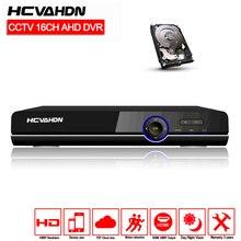 AHD DVR 16ch 1080 P проектор для домашнего видеонаблюдения 16-канальный видеорегистратор AHD-H Безопасность цифровой видеорегистратор системы видеонаблюдения видеорегистратор HDMI 1080 P 16-канальная аналоговая камера высокой четкости, видеорегистратор NVR 2 ТБ HDD
