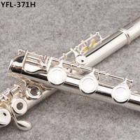 2018 New High quality flute YFL 371H silver flute C tune musical instruments E key flute music Professional