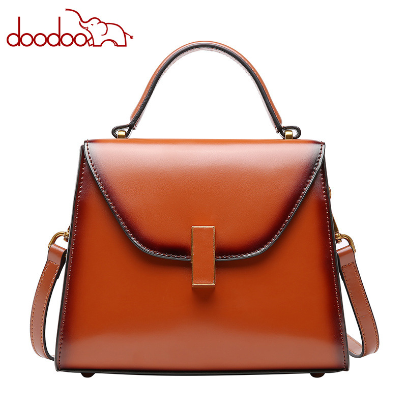 2018 leather handbag Shoulder One-shoulder Messenger Bag Tote Bag New Retro Simple Joker Lady Bag mint retro stamp handbag shoulder bag tote purse leather envelop messenger may25 page 2