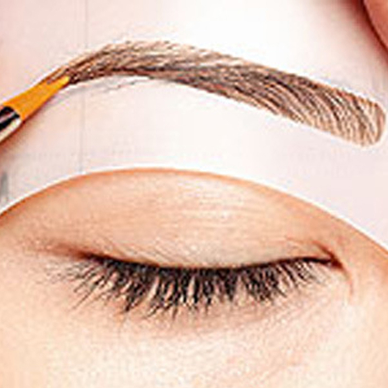 4pcs/set Stylish DIY Beauty Eyebrow Template Stencils Makeup Tools Accessories Grooming Stencil For Eyebrow Kit Eyebrow Shaping eyebrow grooming kit