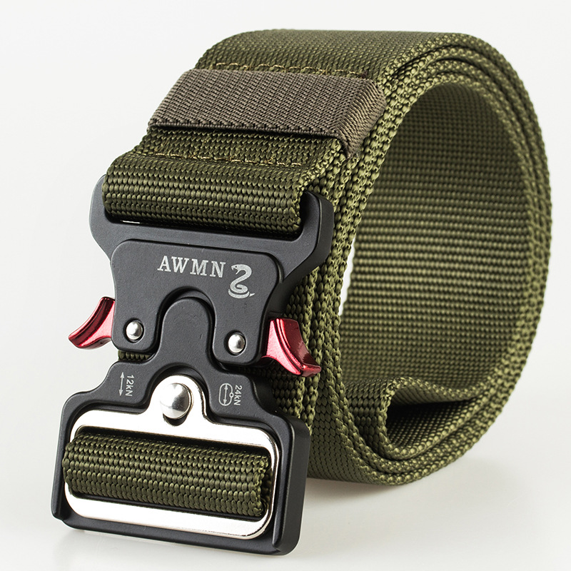 4,8 см ширина мужской ремень нейлоновый тактический армейский ремень для брюк с металлической пряжкой холщовые ремни для тренировок на открытом воздухе Черный Военный поясной ремень - Цвет: Army Green Belt