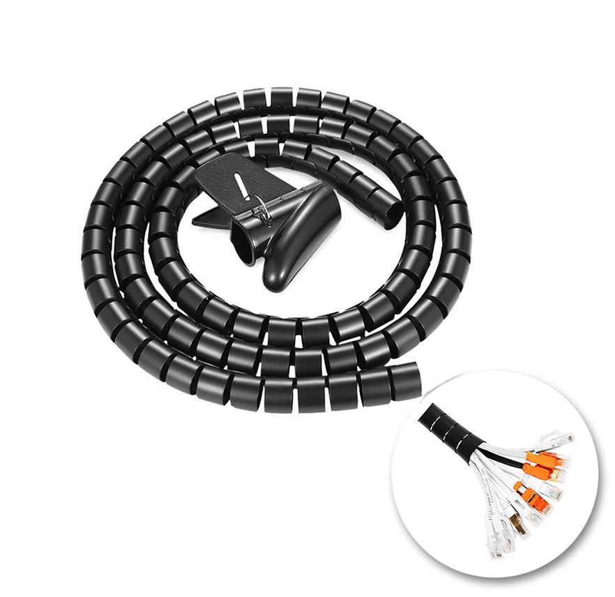 16/22/28mm Diameter Flexible Management Spiral Tube Cable Organizer Wire Wrap Cord Protector Wire Storage Pipe Cable Winder