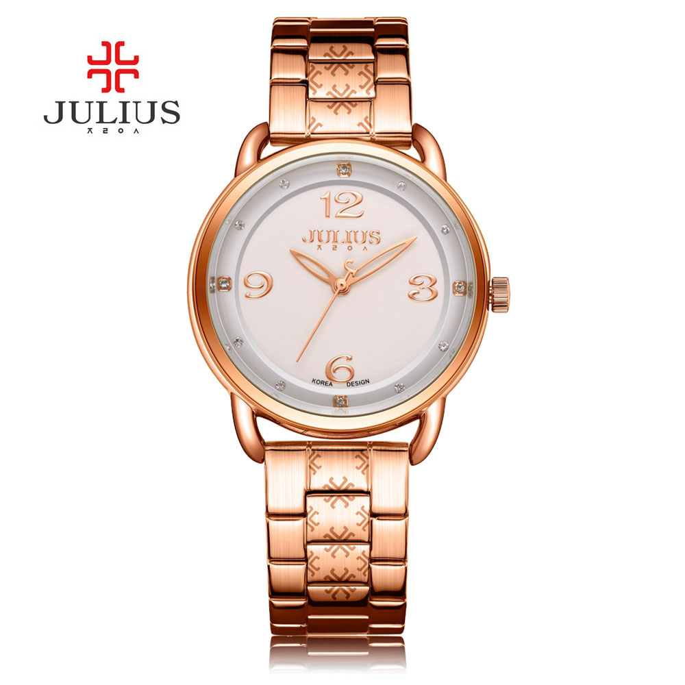 New Elegant Women Watch Luxury Famous Brand JULIUS Watches Gold Masculino Feminino Simple Leather Waterproof Wristwatch bibi happiness natural силикон голубая 0 2 мес