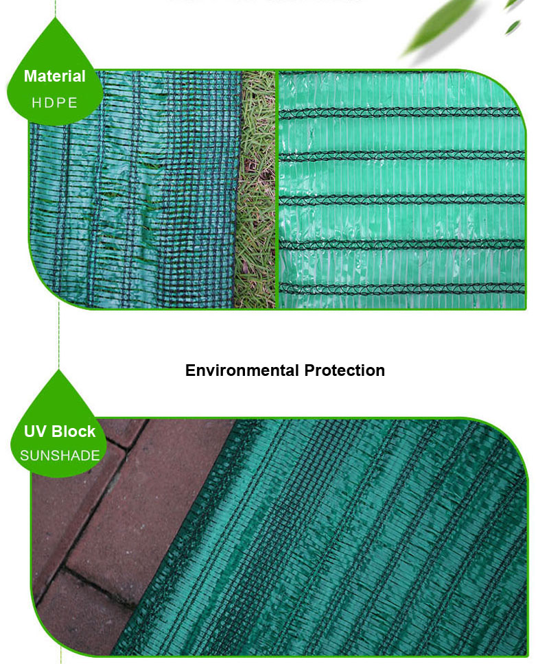 Green Shade Net Mesh Screen Garden Patio RV Nursery Canopy Sun Tarp