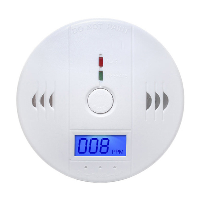 Home Security 85dB Warning High Sensitive LCD Photoelectric