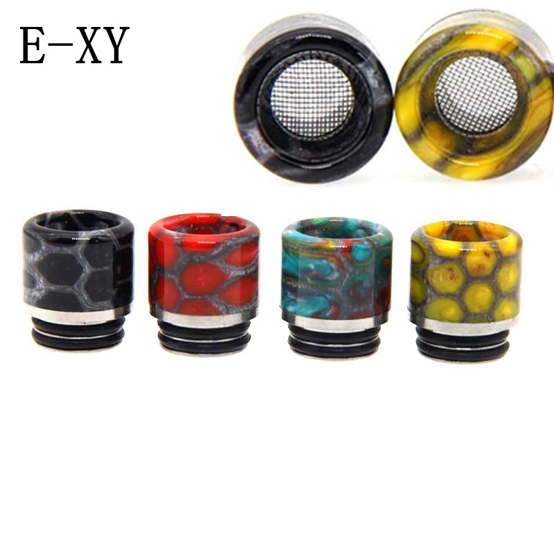 E-XY 810 Anti-frying Oil Drip tip Resin 810 Drip Tip Snake Resin For RDA Atomizer Wide Bore Mouthpiece E-Cigarette Accessories