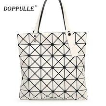Womens Checkered Tote Bag,PU Leather Geometric Diamond Split Joint Shoulder Bag Top Handle Bag