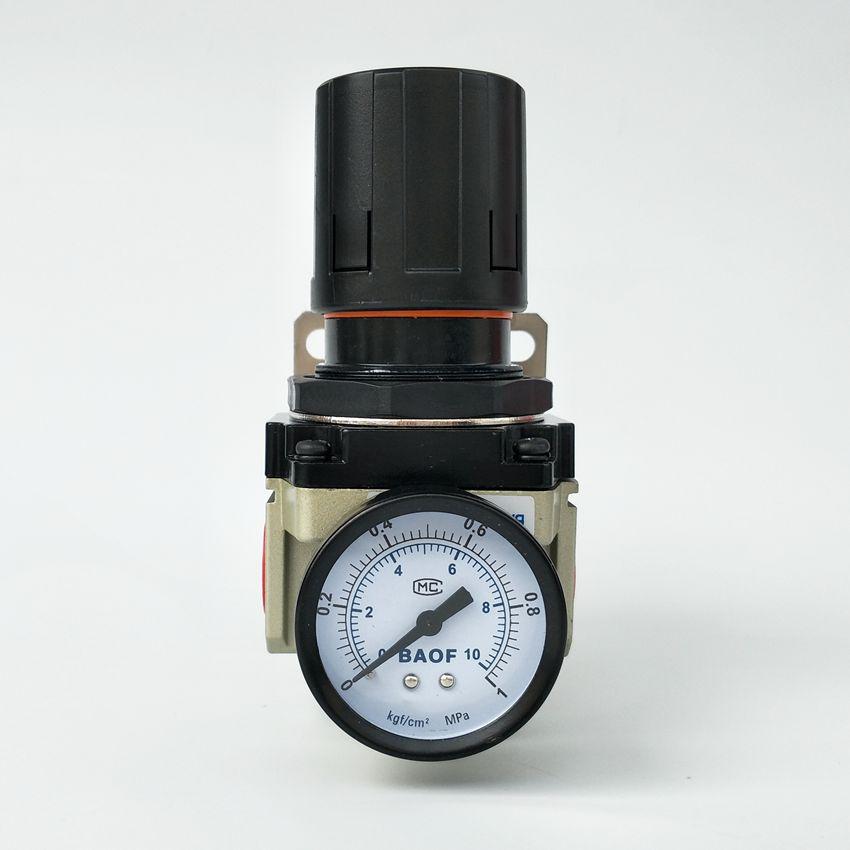 Air Control Compressor Pressure Gauge Relief Regulating Regulator Valve AR4000-04 1/2'' Port Size compressor air control pressure gauge relief regulating regulator valve with 6mm hose fittings
