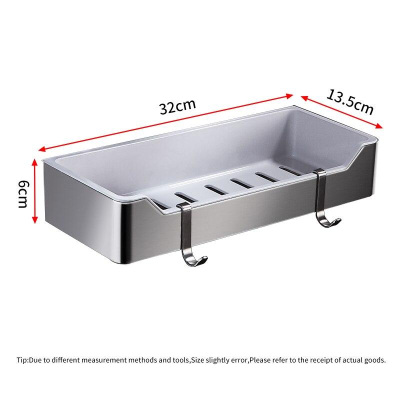 Escovado Ouro Retângulo Chuveiro Caddy Rack de Acessórios de Banho