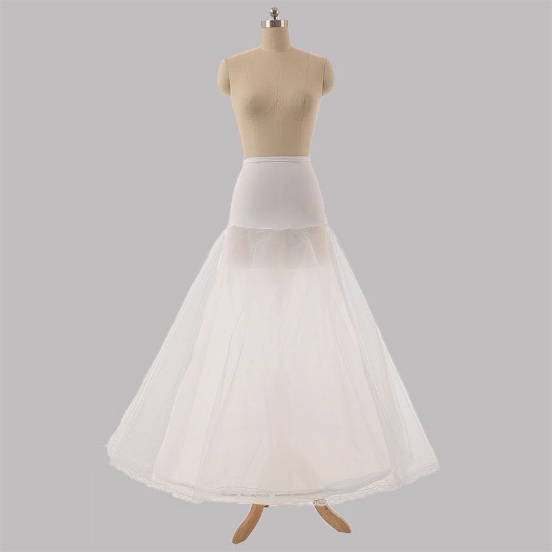Petticoats Jupon Mariage 2019 New Elastic Waist White Tulle 4hoops Petticoats Wholesale Enaguas Para El Vestido De Boda Cheap Wide Selection; Wedding Accessories