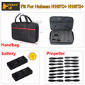 Free Shipping! Hubsan H107C+ H107D+ Quadcopter Propeller+Carrying Bag+2pcs 3.7V 520mAh Battery