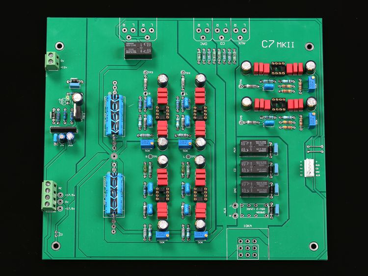 C7 2 HIFI grade pre grade finished board with balanced input and output