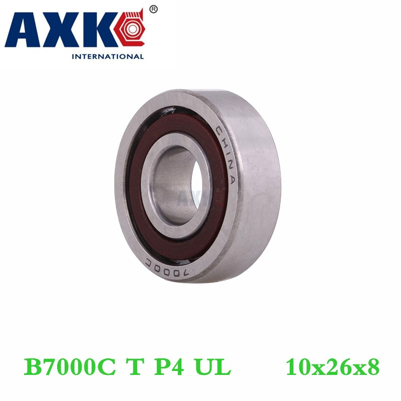 Axk 1pcs 7000 7000c B7000c T P4 Ul 10x26x8 Angular Contact Bearings Speed Spindle Bearings Cnc Abec-7 1pcs mochu 7207 7207c b7207c t p4 ul 35x72x17 angular contact bearings speed spindle bearings cnc abec 7
