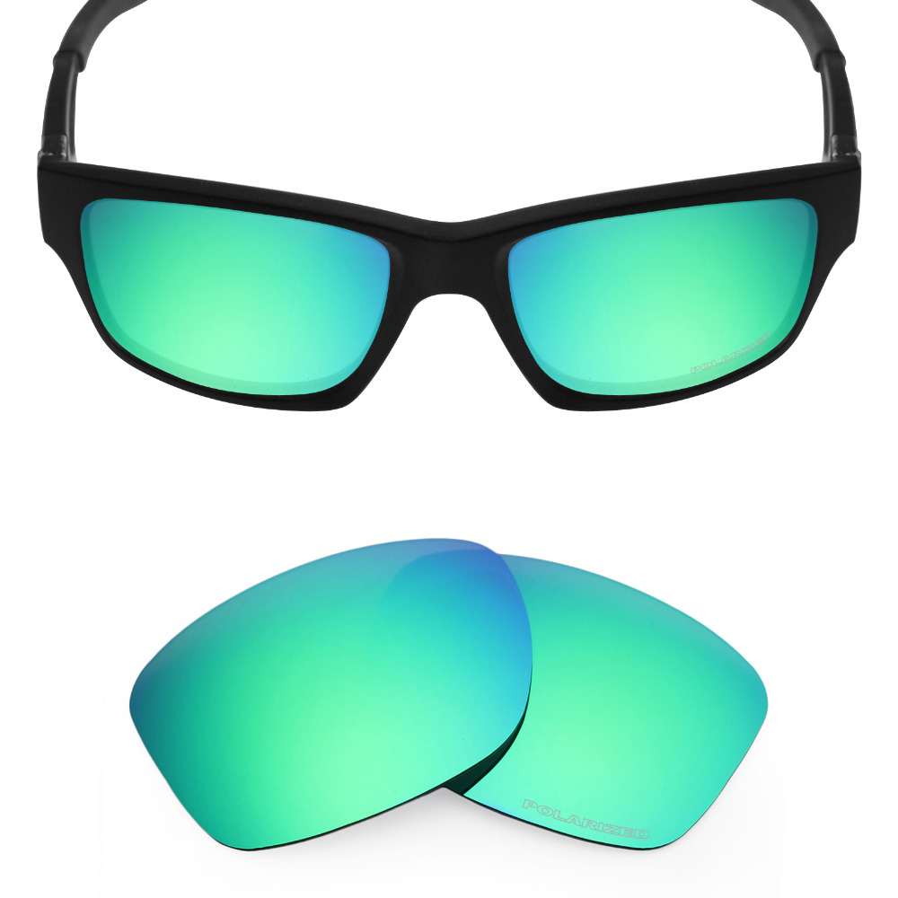 c5025c3dab2 Mryok+ POLARIZED Resist SeaWater Replacement Lenses for Oakley Jupiter  Squared Sunglasses Emerald Green