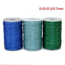 Cordon ciré en Polyester, 0.45, 0.55, 0.65mm, pour fabrication de perles en cuir, cordon en tissu