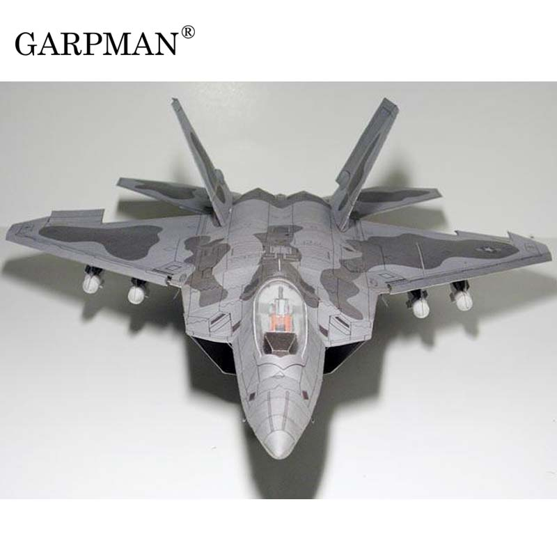 1:33 F22 Raptor Stealth Fighter 3D Paper Model Super Exquisite Version Puzzle Manual Papercraft Toy