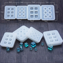 Silicone Mold 12mm 16mm Cube ball beads with hole 6 compartment epoxy Resin Silicone Mould handmade Craft Jewelry Making