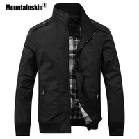 Mountainskin Men S Casual Jackets 4XL Fashion Male Solid Spring Autumn Coats Slim Fit Military Jacket