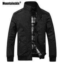 Mountainskin Для мужчин; повседневные куртки 4XL моды мужской сплошной Демисезонный пальто Slim Fit в стиле милитари фирменные Для мужчин верхняя одежда SA432