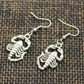 Серьги-подвески в виде скорпиона серебряного цвета, серьги-подвески для женщин