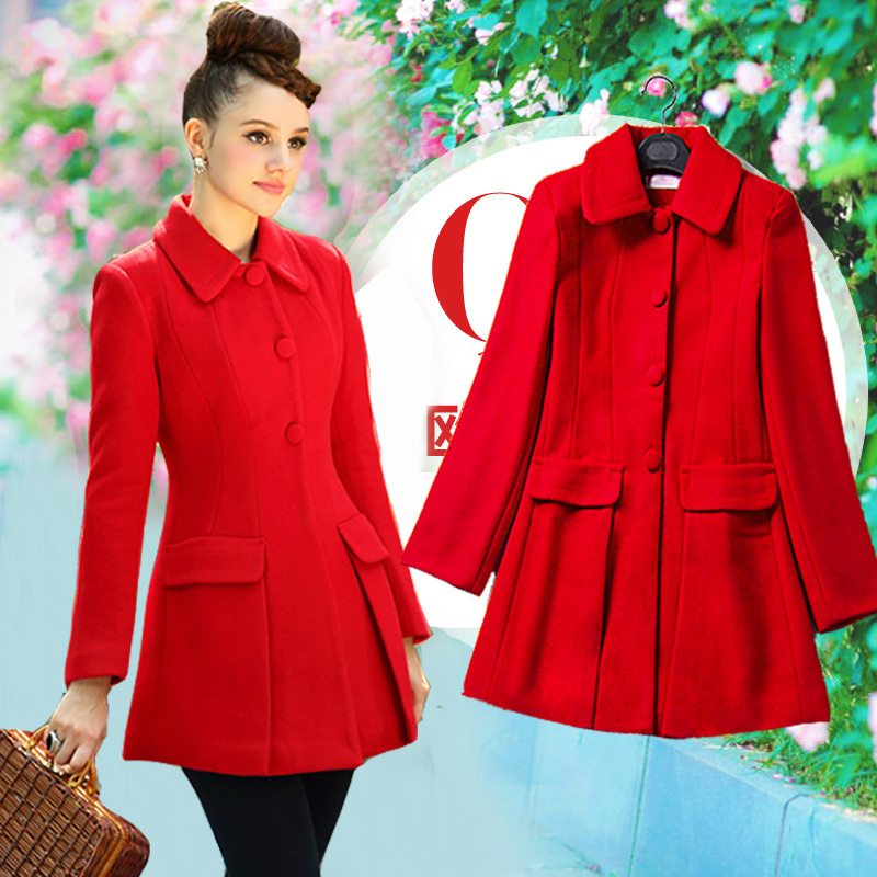 High Quality Red Womens Coat-Buy Cheap Red Womens Coat lots from ...