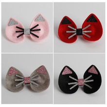 Cute Kitty Hairpins Cat Hairpins Baby Barrettes pink gray red black Cartoon Animal Gift HairClips Children