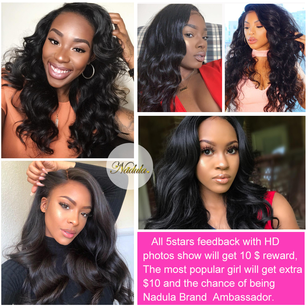 Nadula Hair  Body Wave Hair With 13x4 Lace Frontal Closure 3 Bundles With Frontal 100%  s  Hair 6