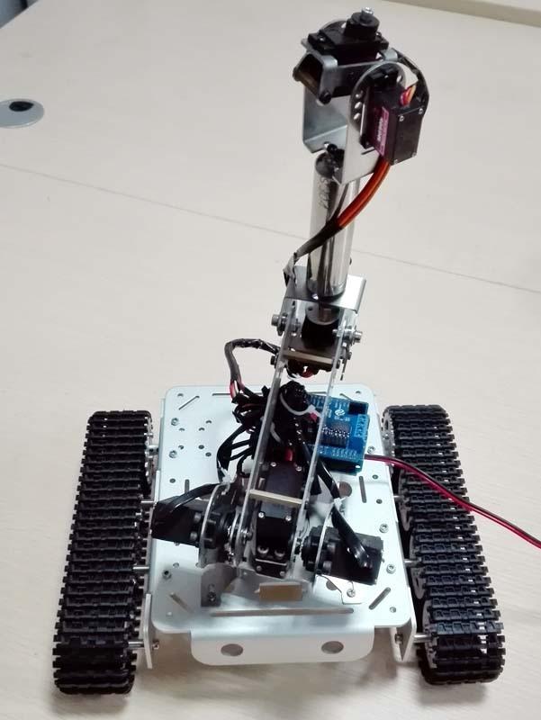Aluminum Alloy Metal Tank with 6 dof long mechanical arm robot with servo 6 dof robotic arm model motor servo cnc all metal robot arm structure servos industrial robot diy rc toy uno