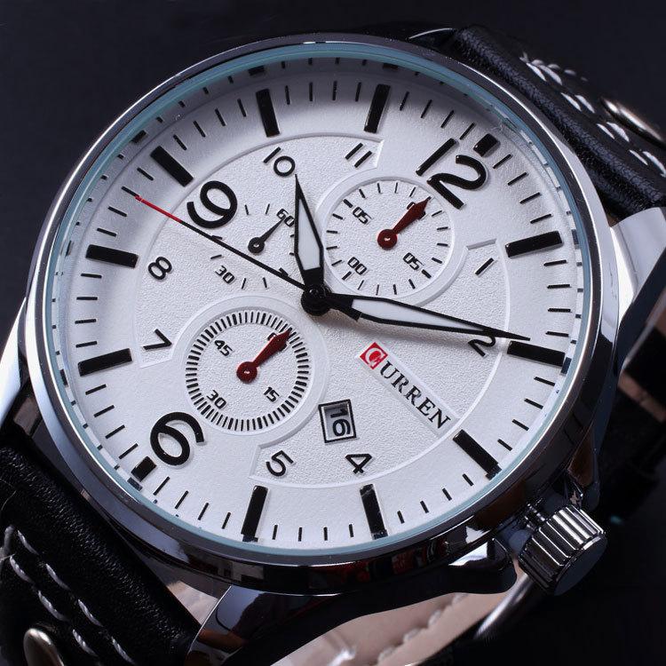 Prix pour NOUVEAU mode hommes montres CURREN militaire sport montres hommes marque de luxe bracelet en cuir quartz montre relogio masculino hommes horloge