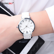 LONGBO Women Watches Luxury Brand Ceramic Strap Quartz Watch Waterproof Clock Ladies Wristwatch Relogio Feminino relojes mujer цена 2017