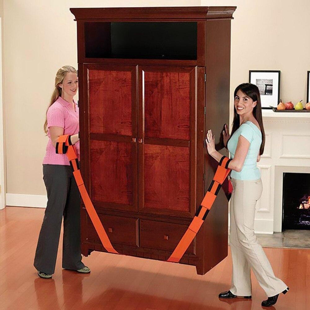 2PCS New Lifting Moving Strap Furniture Transport Belt In Wrist Straps Team Straps Mover Easier Conveying Belt Orange