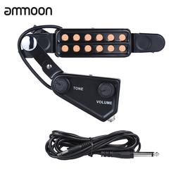 12-hole акустическое отверстие для гитары звукосниматель Магнитный преобразователь с тон громкости контроллер Аудио кабель гитары Запчасти и...