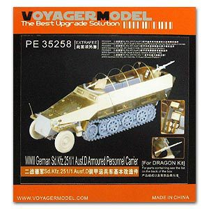KNL HOBBY Voyager Model PE35258 Sd.Kfz.251 / 1 Ausf.D semi-track armored vehicle basic etched pieces (dragon) цена