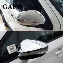 Car Styling For FIAT 500x ABS chrome Mirror Cover Stickers Accessories 2pcs