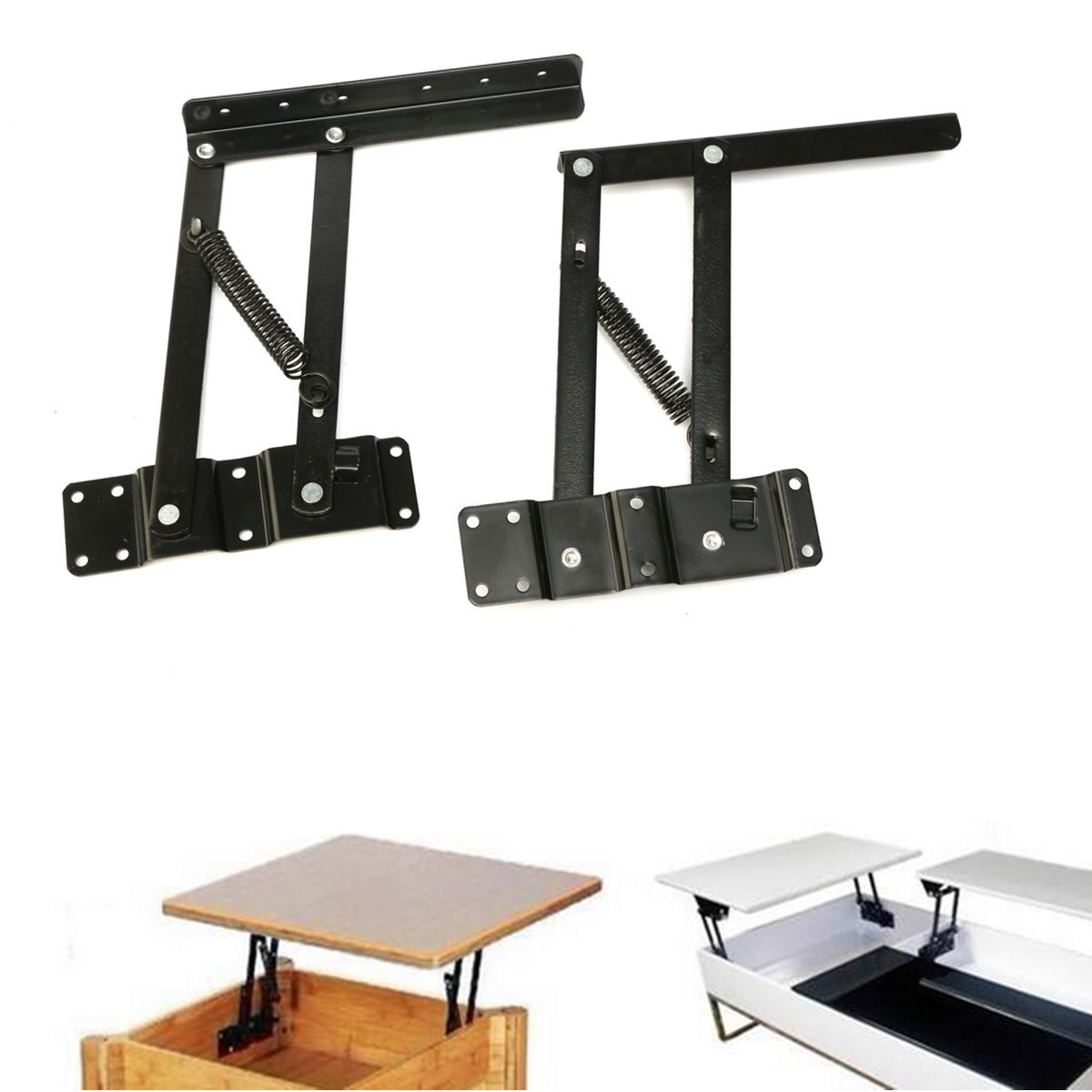 New Arrival Lift Up Coffee Table Desk Mechanism Diy Fitting Hardware Furniture Hinge Spring