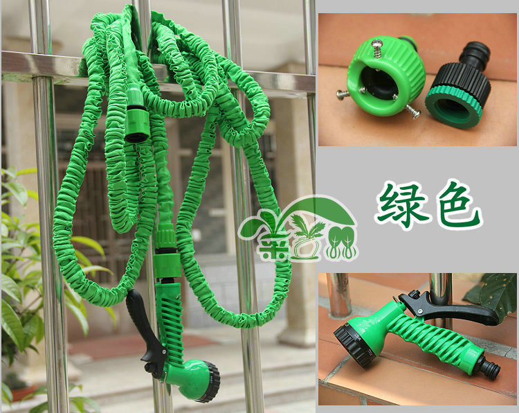 Hot Sale 25 FT Flexible Expandable Magic Garden Hose To For Yard Irrigation  Watering Water Hose With Spray Gun Free Shipping