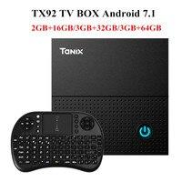 Tanix TX92 TV Box Amlogic S912 Octa Core CPU Android 7 1 OS BT 4 1