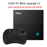 Tanix TX92 TV Box Amlogic S912 Octa Core CPU Android 7 1 OS BT 4 1