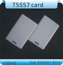 Free shipping(50 pcs) 125Khz RFID Writable Cards T5577 T5557 Thick card Rewrite Proximity Access Control Cards