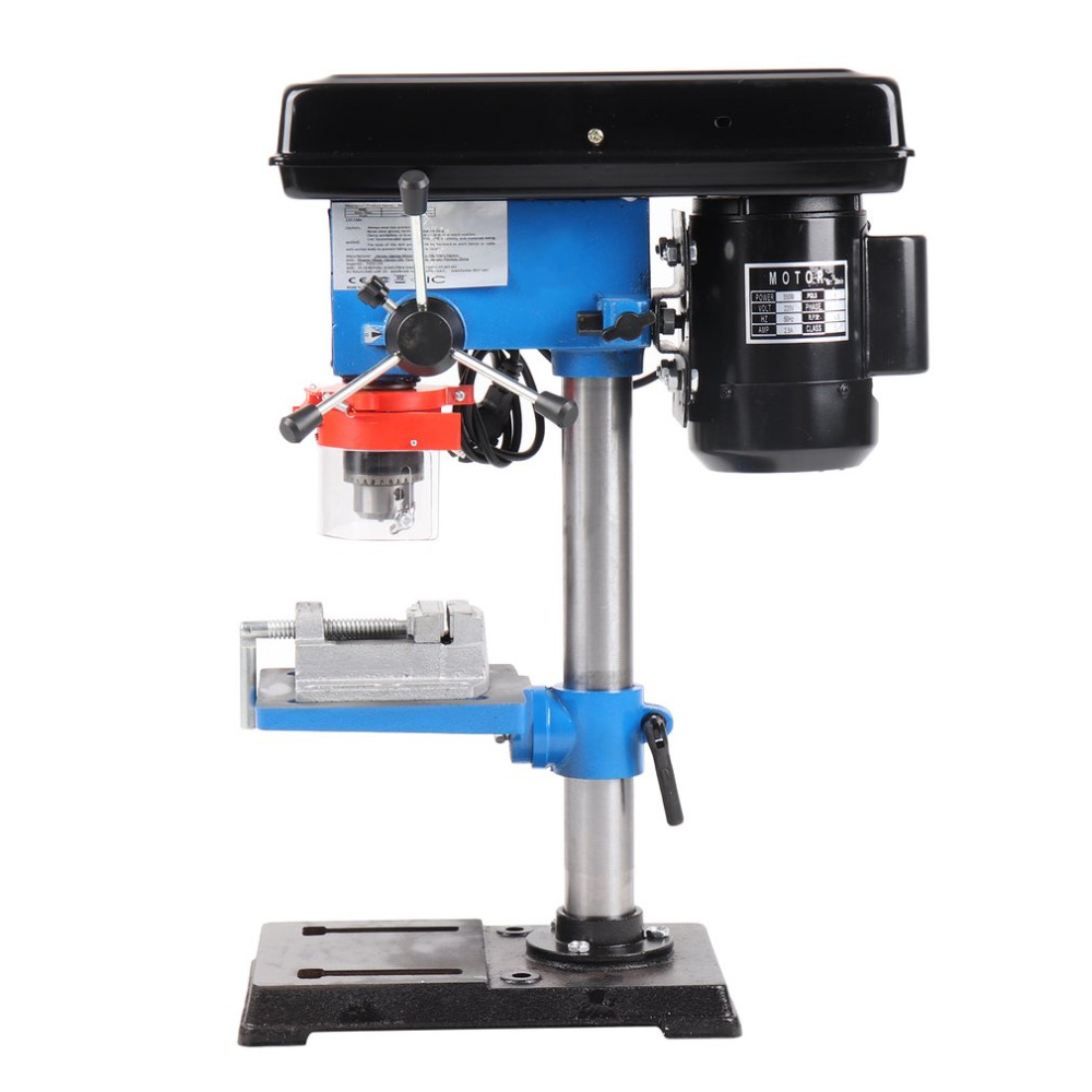 550W Industrial Rotary Pillar Drill Press Bench Top Mounted Drilling Device 9 Speed Drill Chuck Capacity 16mm ZJQ4116B EU Plug