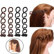 4Pcs/Set Hair Braider Roller Twist Styling Clips Wedding Party DIY Curling Tools hot sale