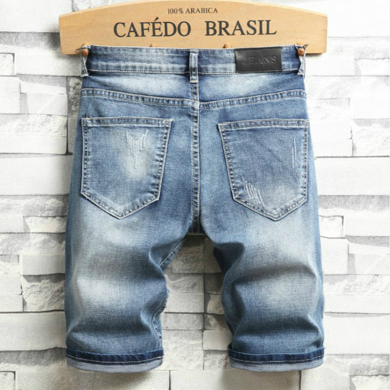 Mens Short Jeans Brand Clothing Bermuda Cotton Shorts Breathable Denim Shorts Male Fashion Embroidery Male Cortos De Mezclilla in Casual Shorts from Men 39 s Clothing