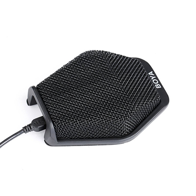 BOYA BY-MC2 Super-Cardioid 3.5mm USB Condenser Microphone for Conference Speech Business Meeting Seminar Desk Mac Windows Laptop boya by mc2 portable usb condenser conference microphone durable for speech