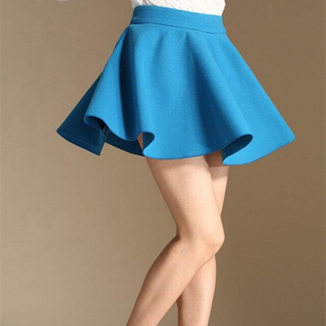 7633d370bd Winter Women Sexy Micro Mini Skirt High Waist Pleated Wool Short Skirt Plus  Size 50% woolen A Line Tutu Skirts Saias Femininas